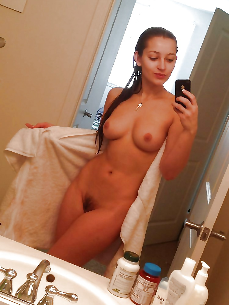Sweet Amateur Babes Taking Self Nude Shots In The Mirror