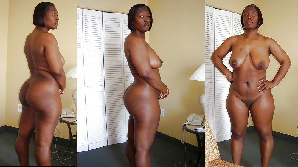 Older black woman naked body
