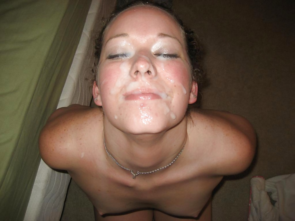 Amateur facial and swallowing compilation