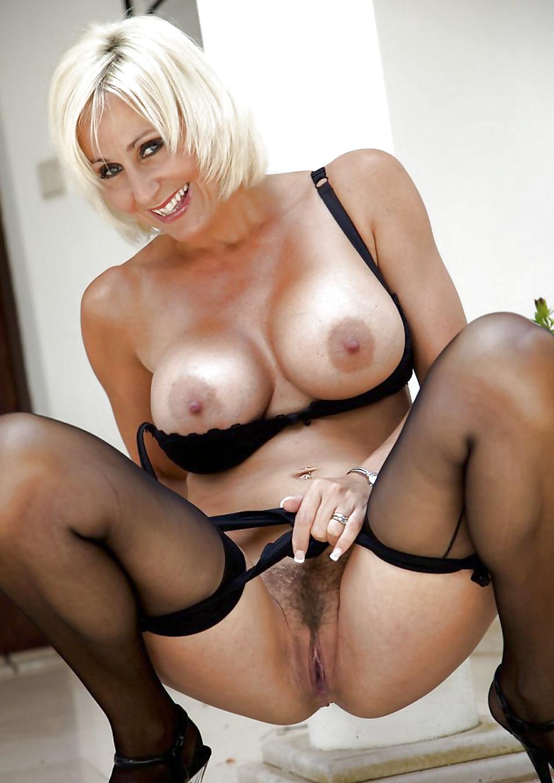 Mature blonde stockings fuck