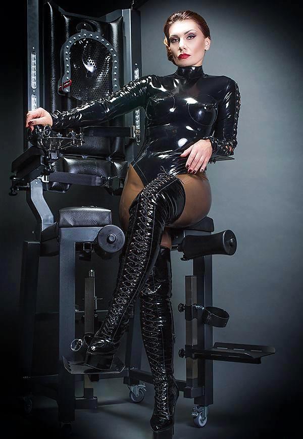 Busty Leather Mistress