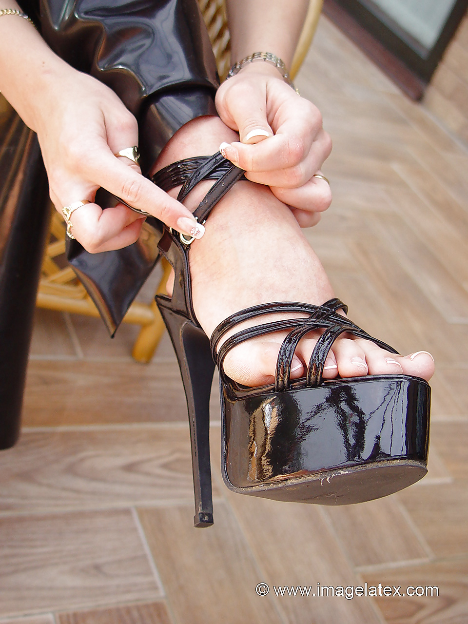 Fetish heel messy woman