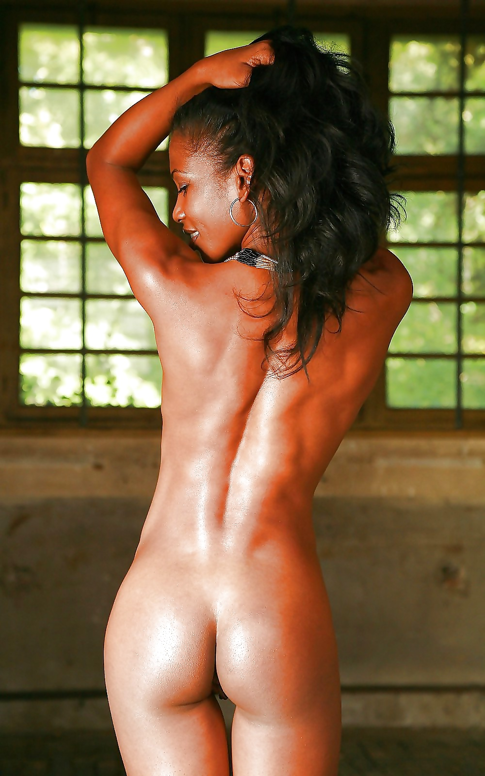 Skinny black girl with perfect round ass