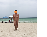 Asian wife at a nude beach (1)