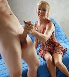 Mature Milfs Sucking & Jerking Fat Cocks (98)
