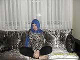 Turkish hijab kevser cum on nylon socks feet foot (4)