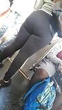 Super massive ass in tight Black spandex (10)