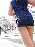 Blue Minidress Upskirt (13)