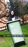 REAL Hijabi Teen in Dustbin. CLOTHED. Bengali UK  (10)