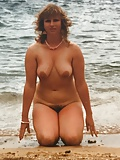Carole's hairy cunt on show on the beach again (9)