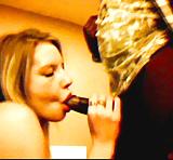 Hot White Blonde Sucks Big Black Cock Blow Job (5)
