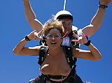 Skydiving and flashing tits. (5)