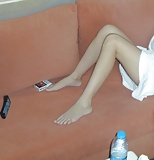 Cute Gf's hot legs, feets and upskirt flashing (10)