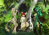furry girls in group (6)